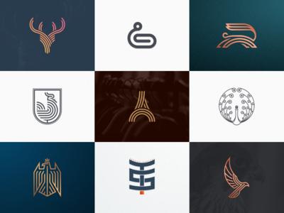 Best 9 shots of 2018 artismdesign graphicdesign branding monogram lineart goldenratio grid luxurylogo logodesign logo