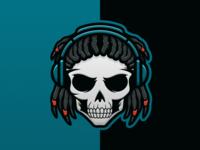 Dreadlocks Skull Dj