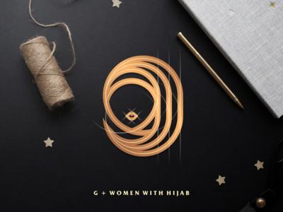 G + Woman with Hijab muslim hijab lettering artismdesign luxury monoline lineart icon logo graphic design creative brand identity artwork