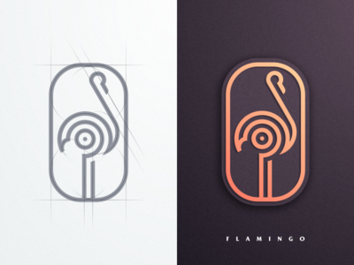 Flamingo forsale design icon vector illustrator creative artismstudio company business artwork graphicdesign brandidentity branding logo simple luxury monoline grid lineart flamingo