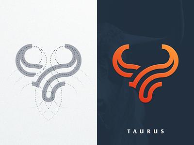 TAURUS artismstudio vector graphicdesign brand identity creative artwork forsale logos logo company business simple monogram monoline grid lineart animal bull taurus