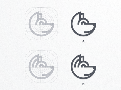 DOG | A or B? ui icon pictoftheday artwork artismstudio company business graphicdesign brand identity branding creative simple grid monogram monoline lineart logos logo dog
