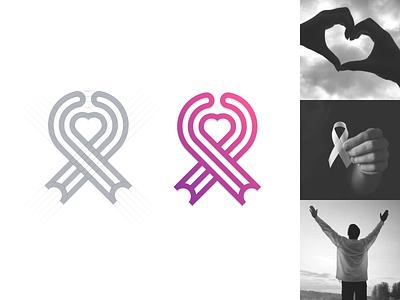 Cancer Foundation logo. artismstudio artwork company business graphicdesign community identity branding creative simple monogram monoline lineart logos logo peoples hearts cancer