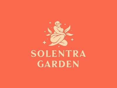 Solentra Garden cosmetics beauty woman logotype logo branding typography