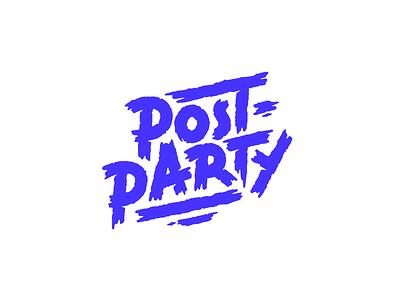 Post-Party logotype logodesign lettering branding logo hand drawn