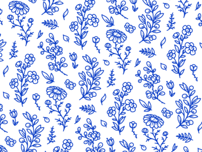 Herbs & Flowers Pattern
