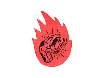 Burn Up snake artwork tattoo texture hand drawn illustration