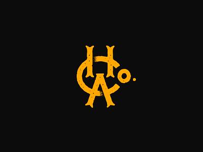 Hawkins Asylum Co. logodesign monogram mark logotype logo branding typography