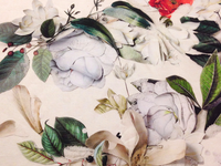Detail of Floral Printed Fabric