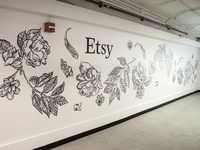 Chicago OOOK Etsy Pavilion Wall Mural