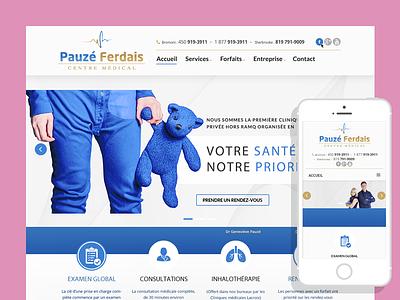 Pauzeferdais - Responsive Website simple website responsive queries media page landing html development css clean