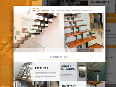 Create Harveymetal - Index Page simple website responsive queries media page landing html development css clean