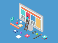 Great-isometric-user-experience free vector