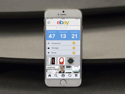 Ebay App Ui Concept app concept web design ui design minimal illustration illustrator app mockup web