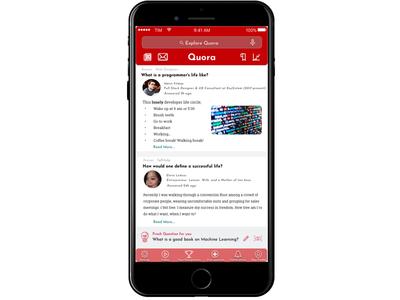 Quora UI Design Idea