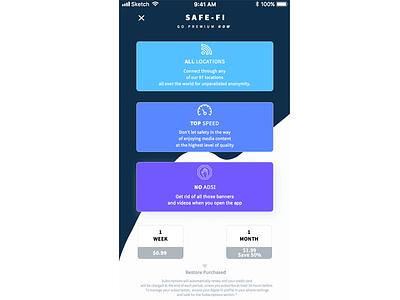 Secured ui premium app paywall