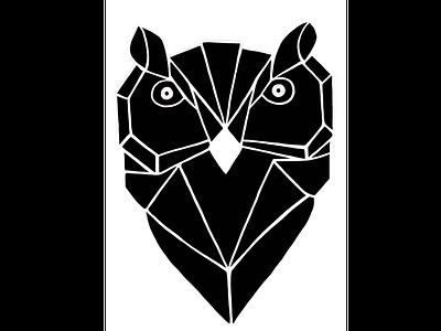 Geometric Owl Logo 🦉 concept procreate branding owl logo owl abstact geometric creative logo illustration