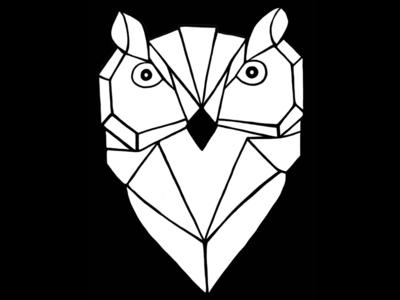 Geometric Owl Logo (Dark) 🦉