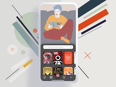 Bookstore Concept 📚 - Part 2 book store app mobile app mobile reading app reading minimalism bookapp bookstore books dribbble clean ux ui illustration design minimal concept app creative