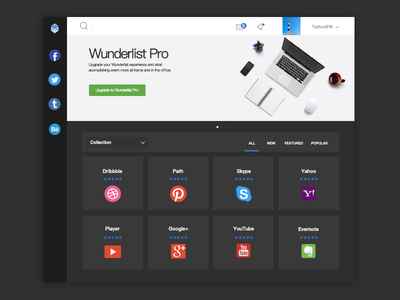 App list Appnamics wunderlist ux ui profile list icon appnamics app