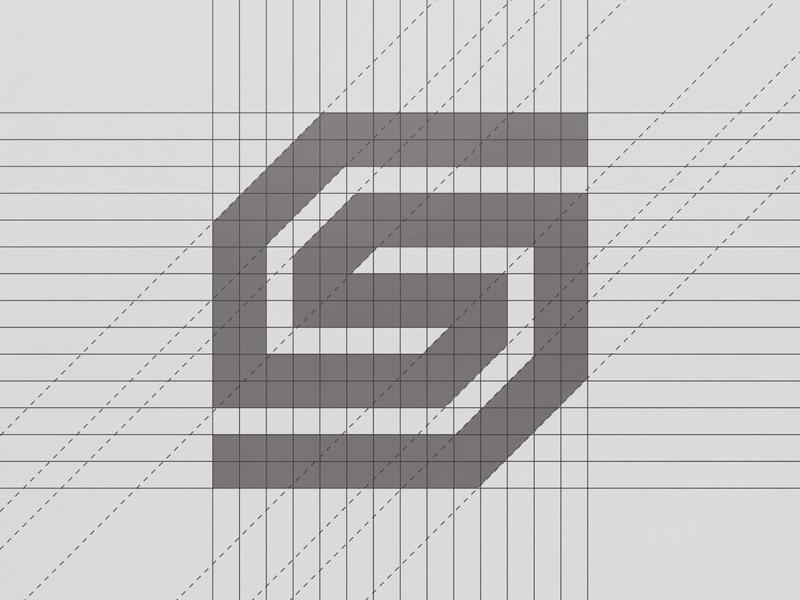 Letter S Monogram Logo Design Grid Process abstract logo abstract design grid logo letter s letter s monograms monogram grid symbol typeface panter lux logo design luxury logo identity branding panter vision