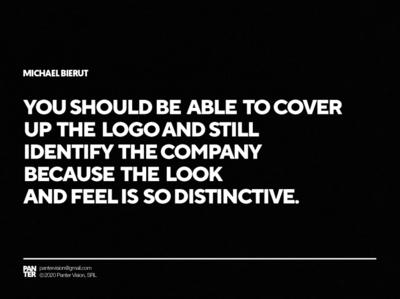 Michael Bierut Quote strategy design connection emotion look and feel bierut michael quote design quote type symbol logo design panter lux luxury logo identity branding panter vision