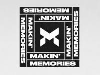 Letter M Logo Monarch Symbol combination urban apparel design