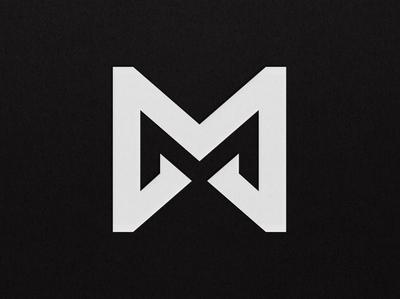 Letter M Logo Monogram Design Negative Space Double M double design monogram minimal space negative typo type letter m typography symbol typeface panter logo design luxury logo identity branding panter vision