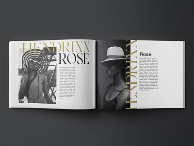 HENDRIXX Rose Wordmark Magazine Lockup model fashion brand elegant serif font serif typo type magazine design magazine fashion minimal typeface lux logo design panter logo luxury identity branding panter vision