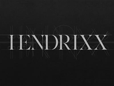 HENDRIXX Rose Typography Grid feminine guides grid typography logo typography art type art typography type typo serif minimal typeface lux logo design panter luxury logo identity branding panter vision
