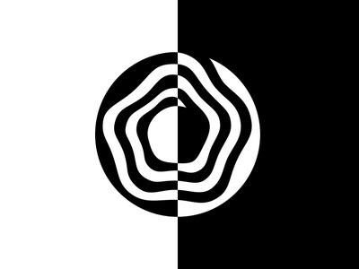 Donut Logo Black and White Abstract Silhouette melting black and white black  white delicious candy creamy preset mellow creamy abstract donut symbol design lux logo design panter luxury logo identity branding panter vision
