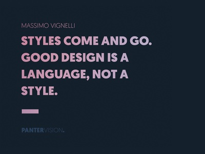 Massimo Vignelli quote panter vision pantera massimo vignelli style web typeface typography type minimal symbol logo design logo lettering icon design project branding identity identity branding app