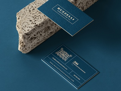 BUZZELLI Business Card zoomin panter vision invoice letterhead envelope stationery construction property wealth lux palm palm tree house logo home house penthouse logo villa logo luxury penthouse luxury villa real estate logo real estate