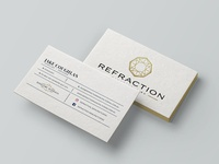 Refraction Manufacturing Business Card Mockup