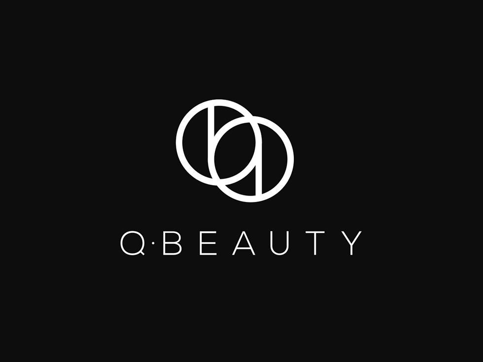 q beauty black and white feminine logo