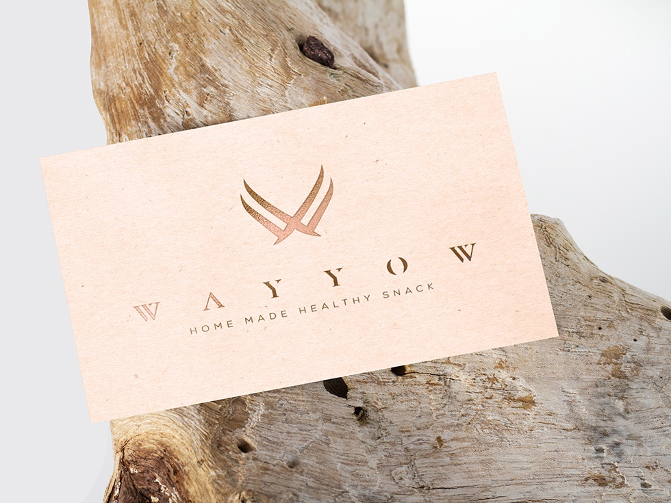WAYYOW Business card lux luxurious premium royal luxury emboss bronze emboss business card jewelry logo health snack symbol logo design identity minimal logo branding panter vision arabic logo arabic
