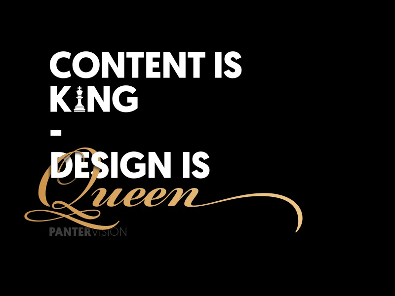 Content queen king content management content design content strategy content creation content marketing content quote design quote vector ui typography icon app logo typeface identity branding panter vision