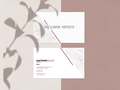 Exclusive Artists fashion business card
