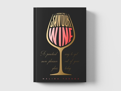 Wine Book Cover Print Design