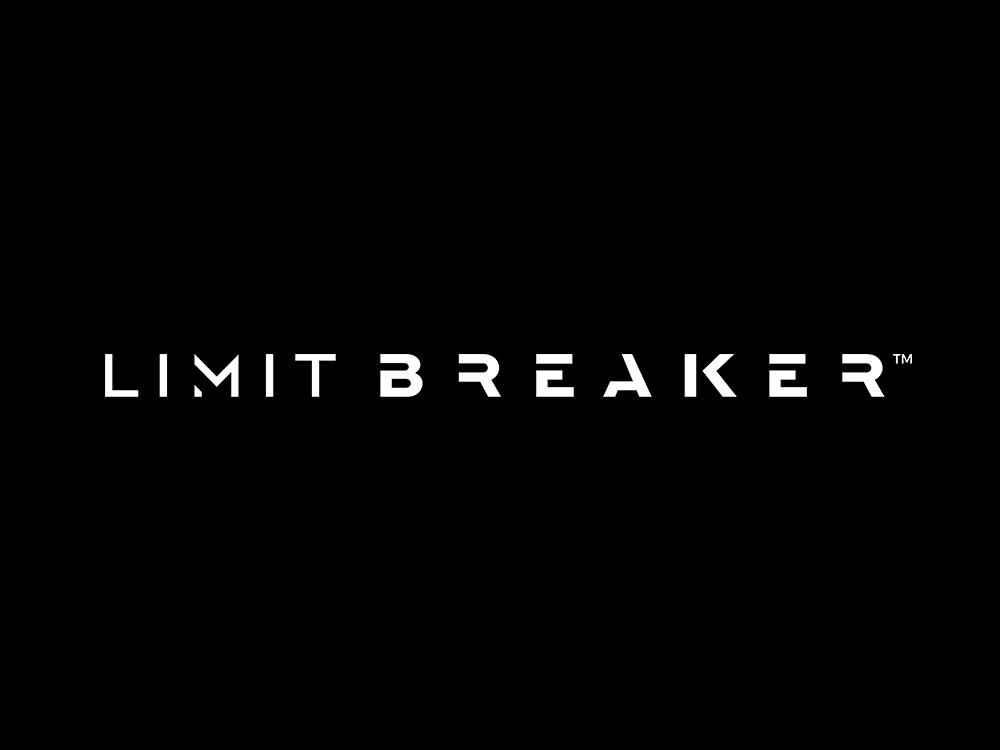 LIMIT BREAKER Wordmark shirt clothing tech limit fashion apparel wordmark ux panter typography lux app luxury typeface minimal logo design identity logo branding panter vision