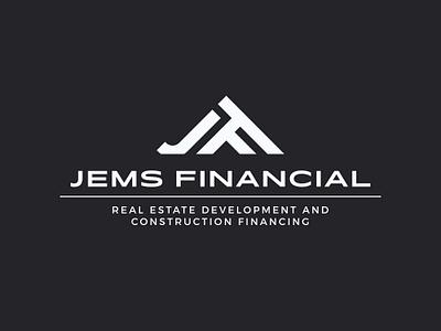 Jems Financial Logo V2 rental property monogram jem hotel house home real estate estate financial finance panter lux app luxury logo design identity logo branding panter vision