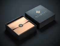 Luxury Box Mockup ALIQYAN Packaging Design