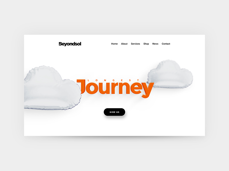 Beyondsol - Creative hero webdesign ui userinterface wordpress minimalistic minimal clean