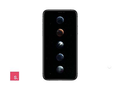 Solar System Transition mobile interaction invision invision studio pluto neptune jupiter mars earth space solar system transition motion design design tools invisionstudio minimal animation design ux ui