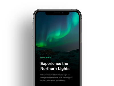 Travel Destinations App – Preview ux ui night transition invision studio invisionstudio invision explore interaction travel northern lights design tools design animation