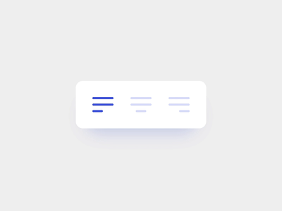 Changing Alignment clean minimal ux ui transition motion design interaction invisionstudio invision studio invision design tools design google docs word editor text alignment alignment text best practices animation