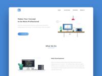 Web Development Studio Landing Page
