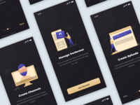 Onboarding Concept For Live Video Streaming App