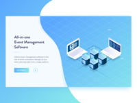 All-in-one Event Management Software Landing Page