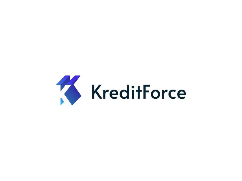 Finance Company Logo accounting finance k logo blue gradient alata gradient negative space corporate